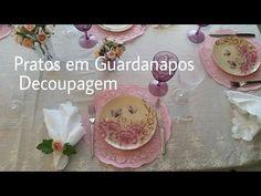 DIY- Pratos Feitos Com Guardanapos! - YouTube