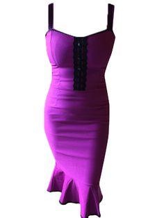 "Women's ""Scarlet"" Dress by Switchblade Stiletto (Magenta)"