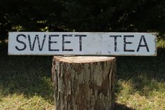 Sweet Tea reclaimed wood sign fixer upper by southernbellesign