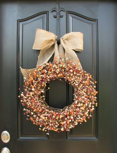 Fall Wreaths - Berry Wreath - Year Round Berries - Harvest Decor - Front Door Wreaths - Seasonal Decor    ***IF YOU CHOOSE the Lg and Mini Wreath