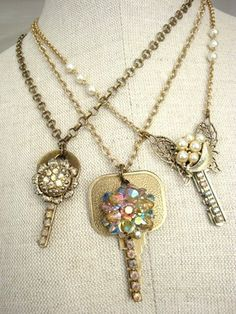 TO DO: Embellish some of my vintage keys with bits and pieces of vintage jewelry. OMG IM DOING THIS ASAP