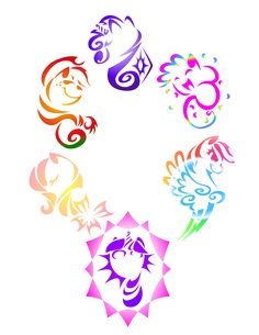 My Little Pony Tribal by ~KwartzKitten