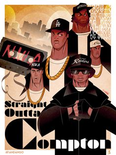 Straight Outta Compton Fan Poster By by: Sket One