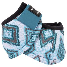 Shop Classic Equine No-Turn DL Teal Diamonds Print Bell Boot