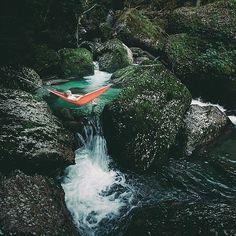 @Regrann from @hammockworld -  Hammocking   Waterfalls PC: @hannes_becker #Regrann #beautiful #travelling #adventure #camping #outdoors #hiking #explore #adventures #adventuretime #wanderlust #traveling #hammock #hammocklife #hammockworld #waterfall by @onetribeapparel
