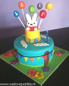Miffy cake for a little birthday boy