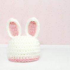 Crochet Bunny Hat Photo Prop Rabbit Beanie Pick by MySweetieBean, $24.95