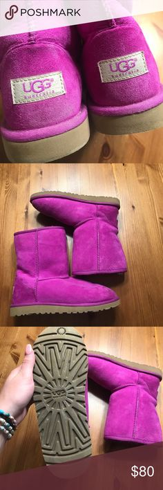 Purple ugg boots Only worn a few times! Almost no sign of wear! Perfect for the fall and winter :) UGG Shoes Winter & Rain Boots
