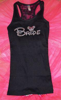 SALE  Bride half lace Tank Top DISNEY FONT by uniqueandtrendy, $16.95 | <3 themarriedapp.com hearted <3