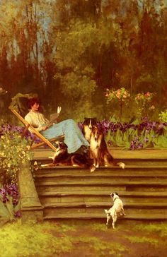 """""""Among Friends"""" by Arthur Wardle (1864-1949)."""
