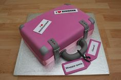 Suitcase Cake on Cake Central Luggage Cake, Suitcase Cake, Cupcakes, Cupcake Cakes, Bon Voyage Cake, Going Away Cakes, Welcome Home Cakes, Farewell Cake, Burger Cake
