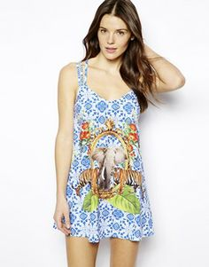 ASOS Safari Elephant Print Beach Dress Sweetest little beach dress:)