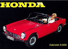 Check out the brochure for this Honda Cabriolet S Japanese Cars, Vintage Japanese, Honda S, Import Cars, Old Cars, Vintage Cars, Nissan, Classic, Brochures