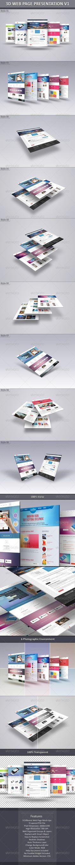 3D Web Page Presentation V1  -  PSD Template • Download ➝ https://graphicriver.net/item/3d-web-page-presentation-v1/6342693?ref=pxcr