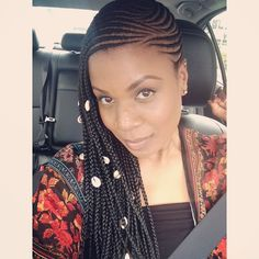 Loving this boho Beyonce-inspired braids.#braids #protectivestyling #cornrows…