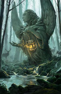 Forest Angel, Andrew Bosley on ArtStation at https://www.artstation.com/artwork/nbLqe