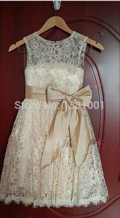Aliexpress.com: Comprar Vestidos Comunion rústico la flor del cordón Vestidos…