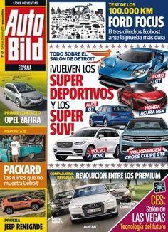 AUTOBILD, Nº 471. La portada del número 471 de Auto Bild está protagonizada por las novedades del Salón de Detroit, en el que los superdeportivos y los SUV de gran formato vuelven a surgir con fuerza. Interesante, como siempre, el test de larga duración del Ford Focus. ¿Qué tal se habrá portado después de 100.000 km?