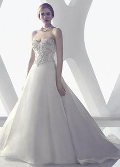 NEW! Graceful Satin A-line Sweetheart Neckline Inverted Basque Waistline Wedding Dress