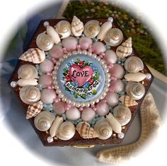 Sailor's Valentine Miniature Shell Box with by janiechampagnie