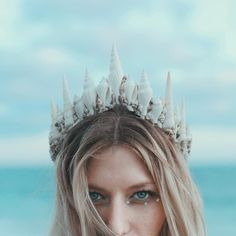 "Corina Alulquoy Brown☽ on Instagram: ""Discovered that not only is this babe an amazing artist, but she's pretty dang good at modeling as well. Here's the first glimpse at one of the new mermaid crowns I made, hitting the website and Etsy next week! Model: @marissaquinn (be sure to check out her art! It's unreal!) Lighting: @elizasloane Photography: #wildandfreejewelry"""