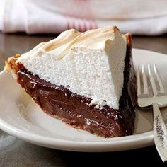 Classic Chocolate Meringue Pie From Better Homes and Gardens, ideas and improvement projects for your home and garden plus recipes and entertaining ideas.