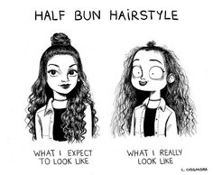 Half bun - expectation vs reality
