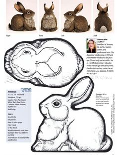 #1832 Carving Rabbit - Wood Carving Patterns - Wood Carving