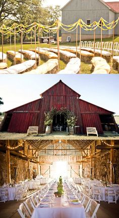 Barn Wedding!  love this idea!