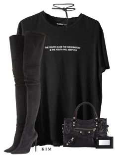 """""""Untitled #3279"""" by kimberlythestylist ❤ liked on Polyvore featuring Tamara Mellon and Balenciaga"""