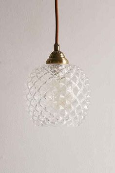 Honeycomb Glass Pendant Light - Urban Outfitters