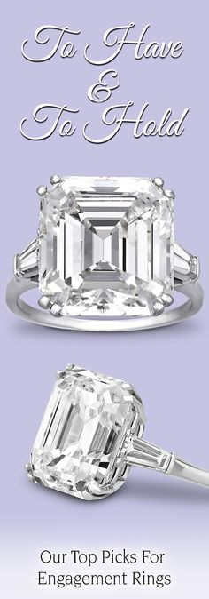 Jewelry Diamond : Image Description This spectacular vintage Harry Winston ring is set with an absolutely extraordinary emerald-cut diamond of breathtaking beauty ~ M. Diamond Rings, Diamond Engagement Rings, Diamond Jewelry, Jewelry Rings, Wedding Jewelry, Wedding Rings, Harry Winston, Emerald Cut Diamonds, Dream Ring