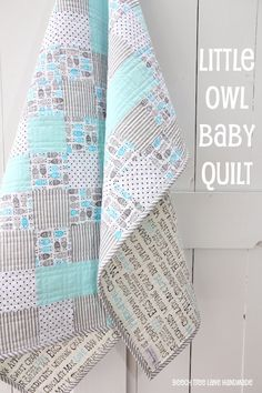 Little Owl Baby Quilt