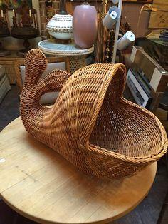 Vintage Whale Basket