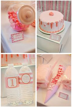 Pretty in Pink 1st Birthday Party Theme