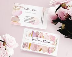 Lipsense Business Card Blush Rose Gold Watercolor Senegence Business for Make Up Artist Editab Lipsense Business Cards, Makeup Artist Business Cards, Watercolor Business Cards, Custom Logo Design, Custom Logos, Nails Rose, Hanger Logo, Name Card Design, Gold Watercolor