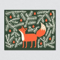 Forest Fox Card