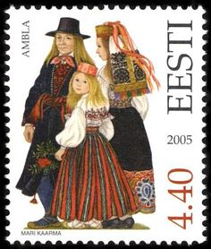 Estonia Stamp 2005 - Folk Costume Jarva County Ambla Pilt