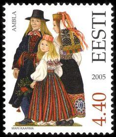 Estonia Stamp 2005 - Folk Costume Jarva County Ambla Pilt