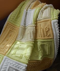 JOYFUL pattern for crocheted blanket by ColorandShapeDesign