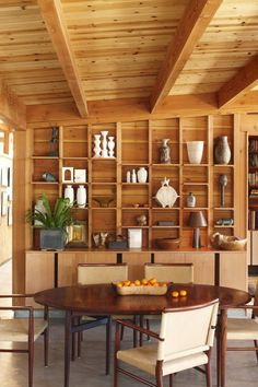 Beach Style Dining Room in Santa Barbara, CA by Bestor Architecture