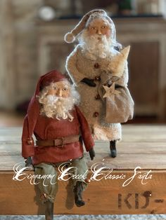 Now you can make a Cinnamon Creek Santa for yourself ! Find the patterns in my Etsy shop now ! Christmas Elf Doll, Prim Christmas, Father Christmas, Christmas Projects, Winter Christmas, Vintage Christmas, Christmas Ornaments, Christmas Stuff, Christmas Trees
