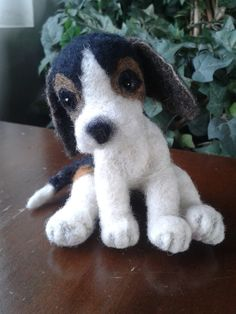 needle felted beagle needle felted dog felted by Made4ubyJackie £32.00 ready to ship thank you for looking