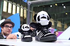 These Adidas Originals Jeremy Scott Panda Sneakers are Super Cute trendhunter.com