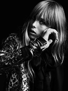 le-monde-sans-couleur:  Edie Campbell for Saint Laurent S/S 2013, ph. by Hedi Slimane