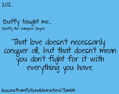 Love doesn't necessarily conquer all, but that doesn't mean you don't fight for it with everything you have