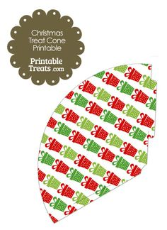 Christmas Presents Printable Treat Cone from PrintableTreats.com