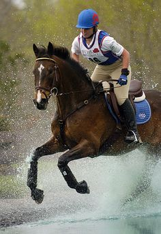 My Trainer and Friend. Just happen to be checking out eventing pins and found this.