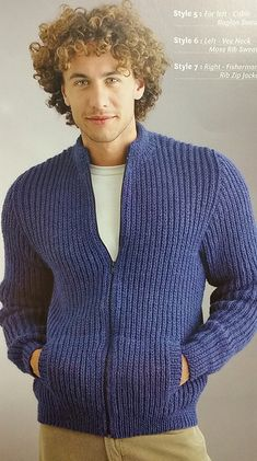 Ravelry: Fisherman's Rib Zip Jacket pattern by Patons Australia
