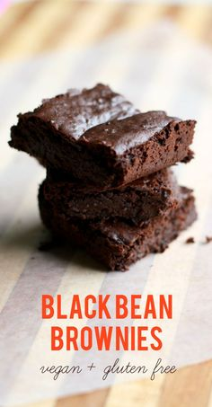 These black bean brownies are super rich and decadent, and best of all, they're gluten free and vegan! #glutenfree #vegan